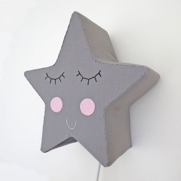 Grey Sleepy Star - Night Light by House of Clouds
