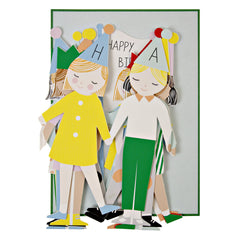 Party Kids Concertina - Birthday Card by Meri Meri - Little Citizens Boutique  - 2