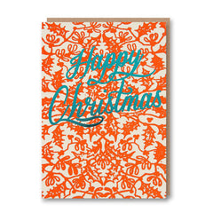 Happy Christmas Foiled Christmas Card from Letterpress