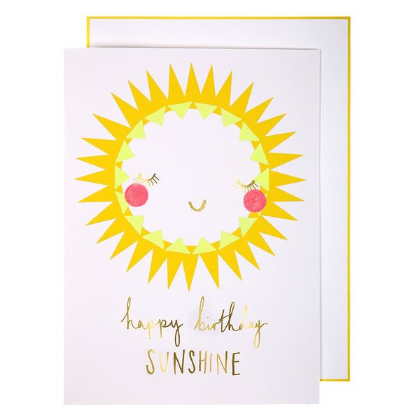 Happy Birthday Sunshine Card - Meri Meri