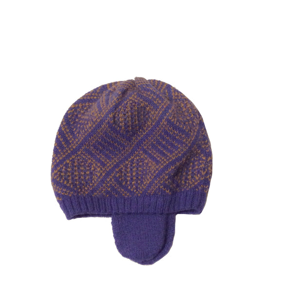 Rafa Hat - Blue & Wood