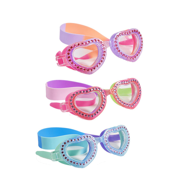 Je t'aime Kid's Swimming Goggles by Bling2o