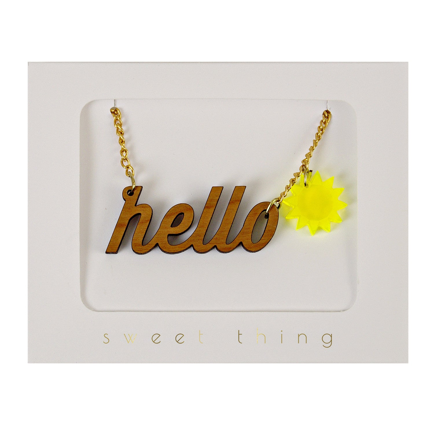 Hello Sunshine Necklace by Meri Meri - Little Citizens Boutique