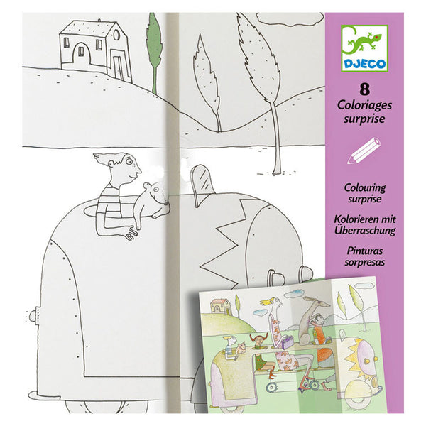 Hide and Seek Colouring Surprise by Djeco