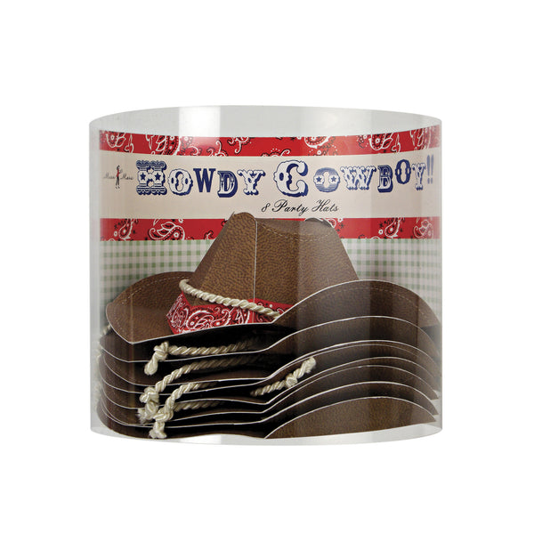 Howdy Cowboy Birthday Party Hats by Meri Meri