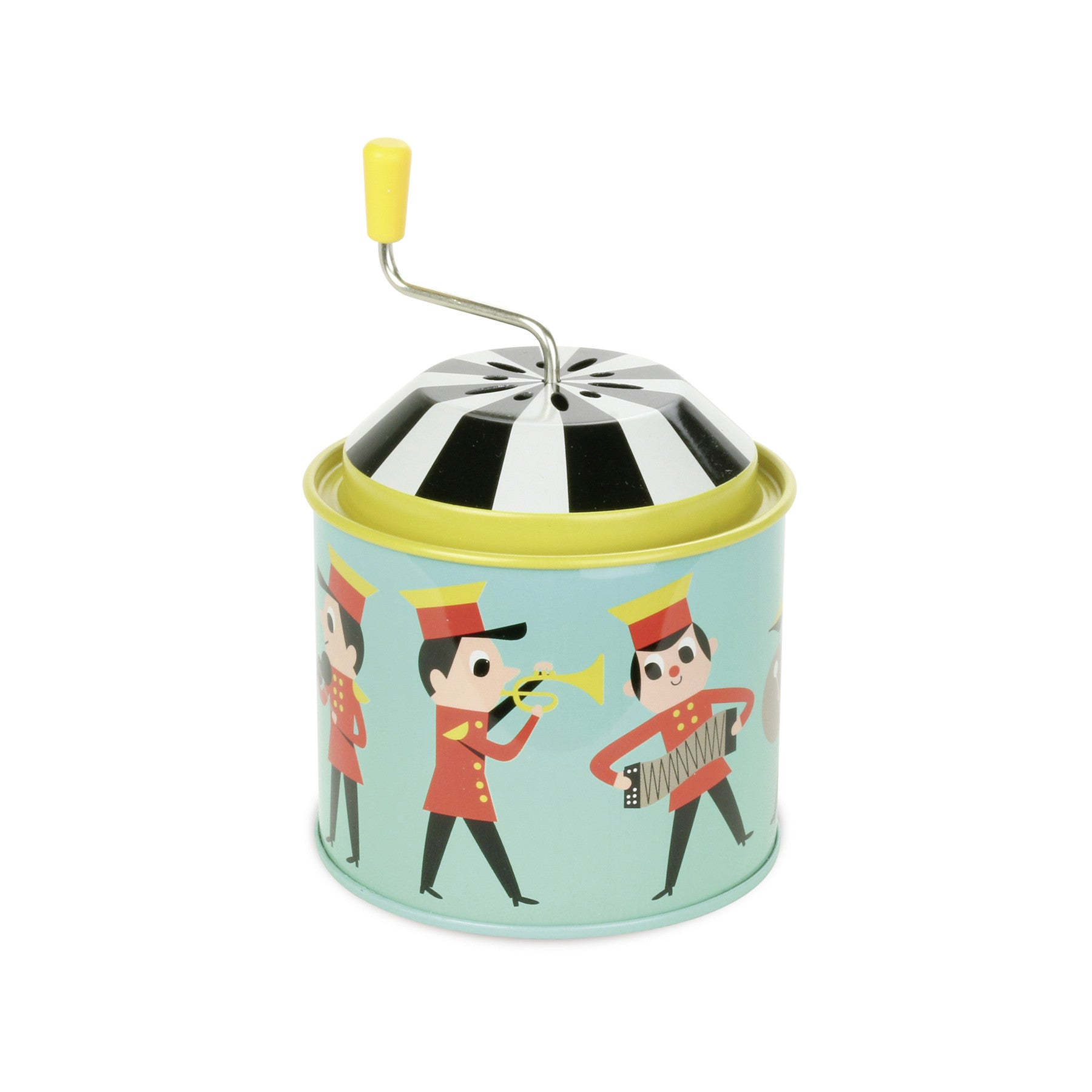 Ingela Arrhenius Metal Musical Box - marching band by Vilac - Little Citizens Boutique