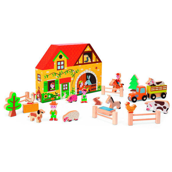 Wooden Farm Play World by Janod