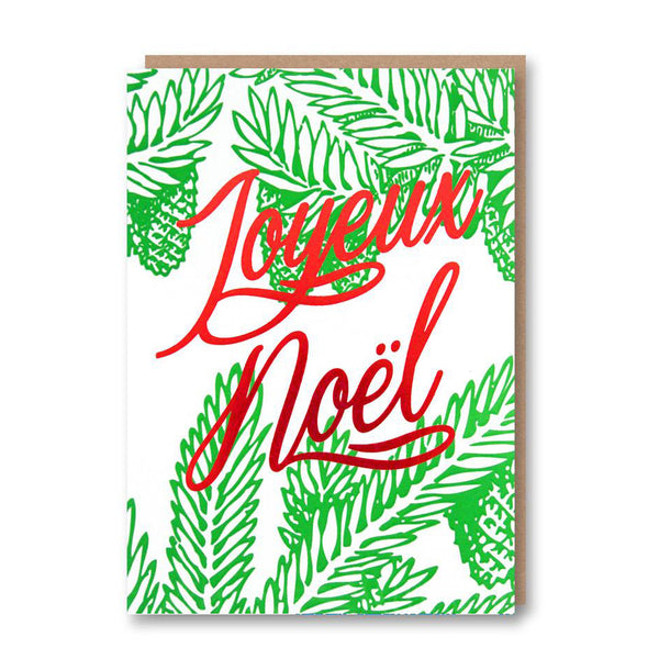 Joyeux Noel Foiled Christmas Card from Letterpress