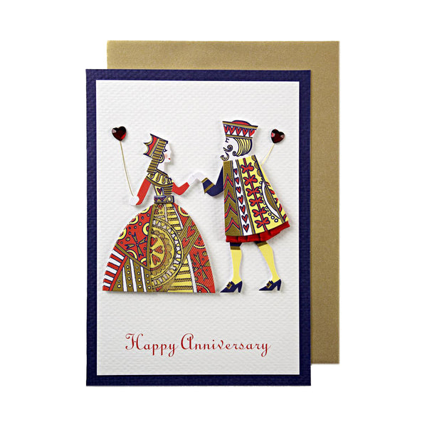 King and Queen Happy Anniversary Greeting Card by Meri Meri