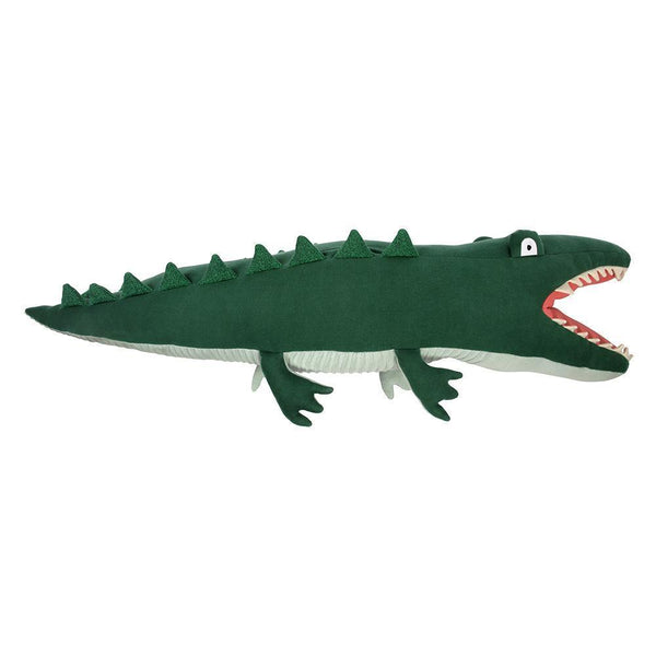 Giant Knitted Alligator Cuddly Toy by Meri Meri