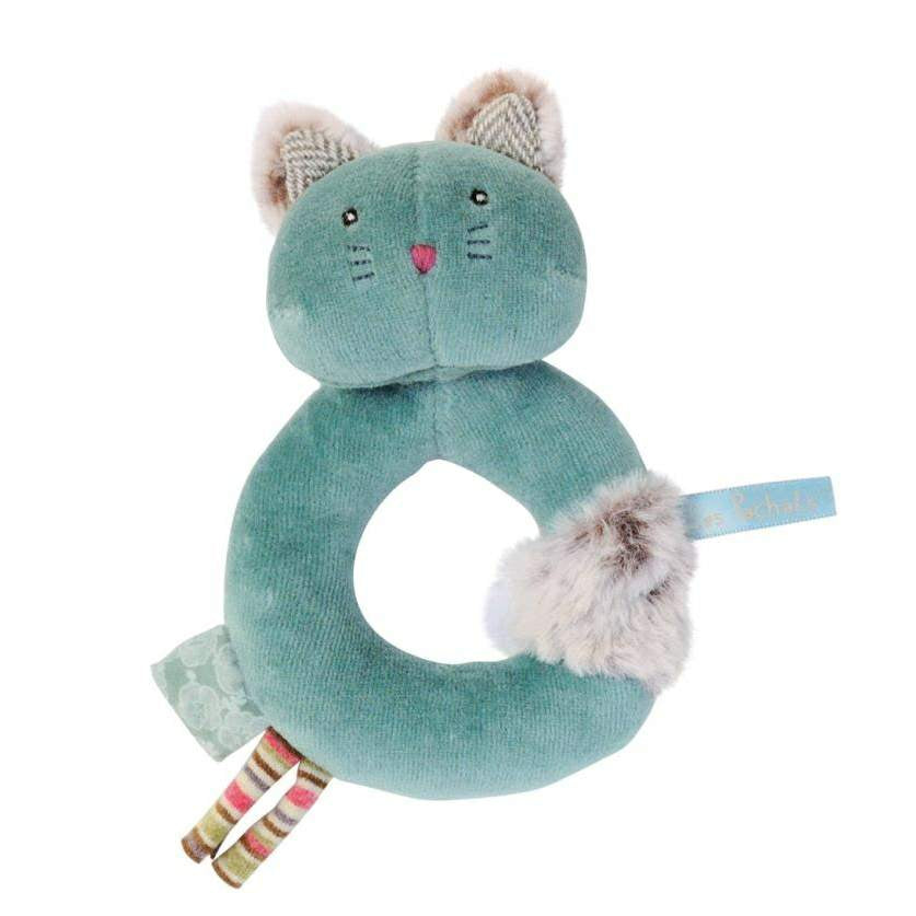 Cat Baby Rattle by Moulin Roty