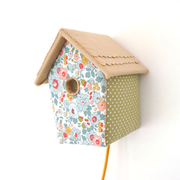 Bird House, Liberty Print - Night Light by House of Clouds