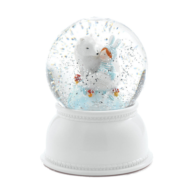Lila & Pupi Night Light Snow Globe by Djeco - Little Citizens Boutique  - 1