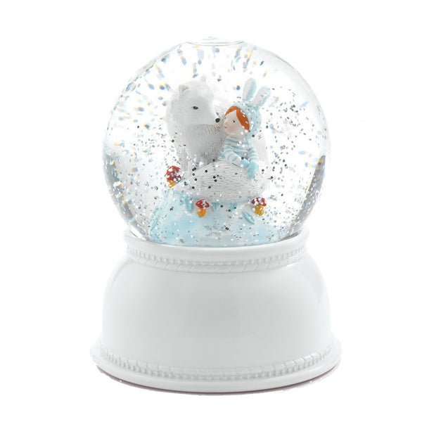 Lila & Pupi Night Light Snow Globe by Djeco