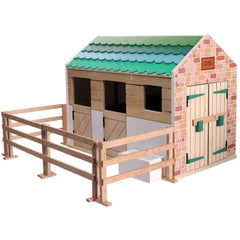 Lottie Doll Horse Stables Wooden Toy Set