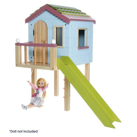 Lottie Doll Tree House Play Set with Swing