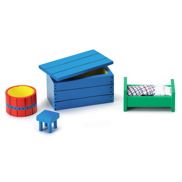 Pippi Longstocking Small Dollhouse Toy Furniture Set