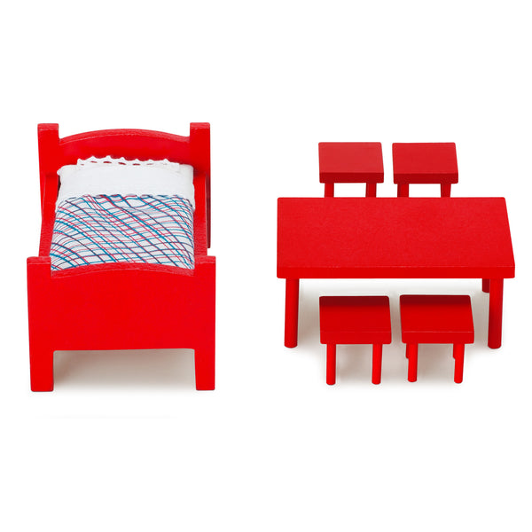 Pippi Longstocking Large Dollhouse Toy Furniture Set