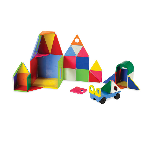 Magna Tiles 48 Piece SOLID Colours DX Vehicle Set
