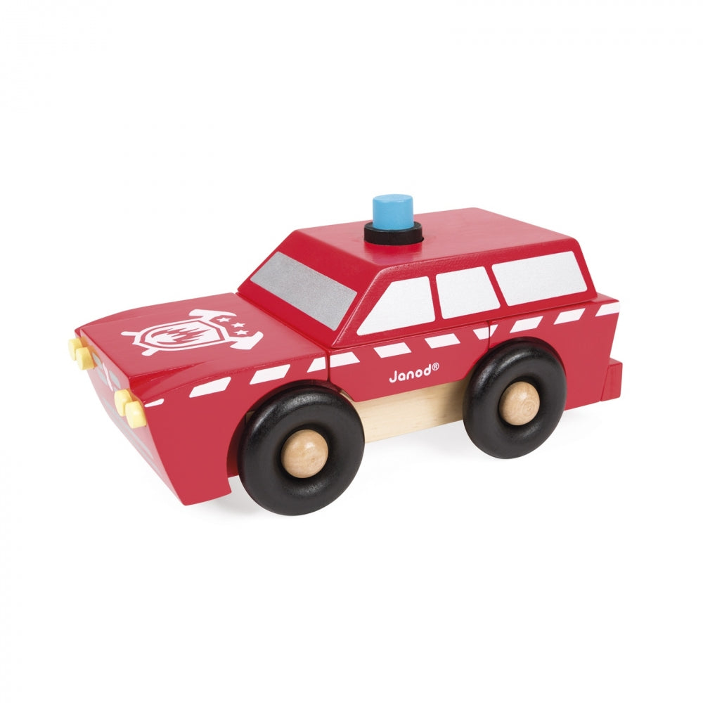 Magnetic Fireman SUV by Janod