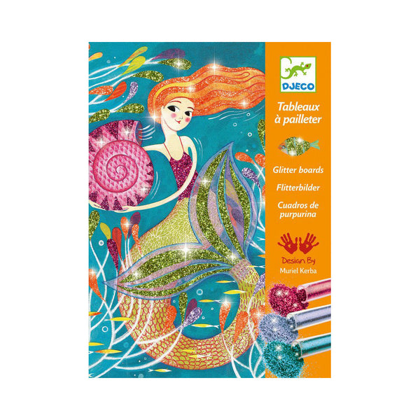 Mermaid Glitter Boards Art Kit by Djeco