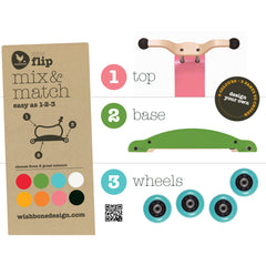 Mini-Flip Bike Wishbone 3 in 1 Ride On Toy