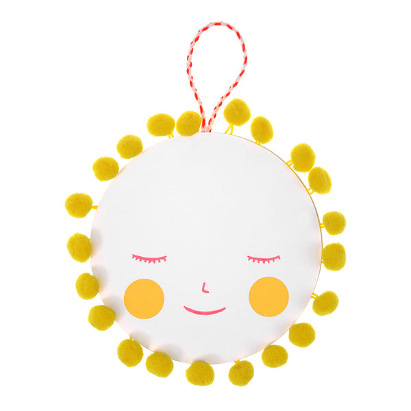 Sun Pom Pom Hanging Mobile Baby Greeting Card - Meri Meri