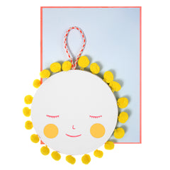 Sun Pom Pom Hanging Mobile Baby Greeting Card - Meri Meri - Little Citizens Boutique  - 2
