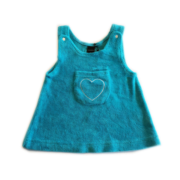 Turquoise Heart Flannel Mini-Dress by Moonkids