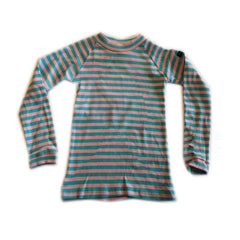 Blue and Pink Long Sleeved Top by Moonkids