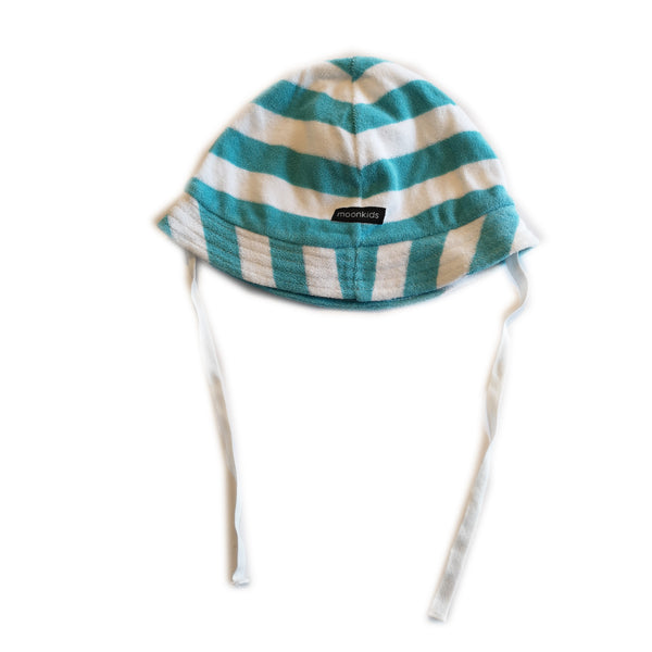 Blue and White Striped Flannel Hat by Moonkids