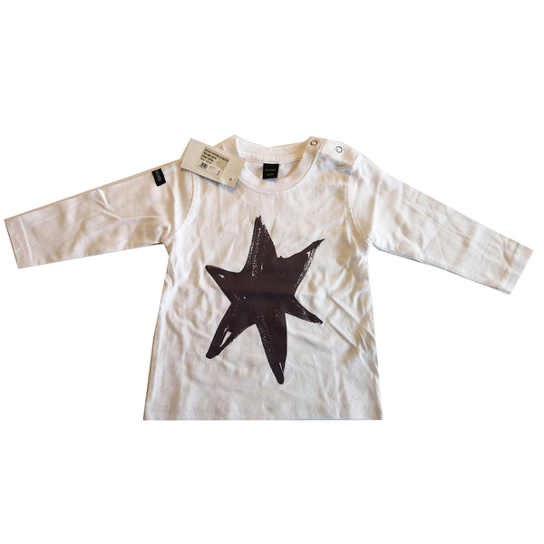Purple Star Print Long Sleeved Tee by Moonkids