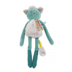 Blue Cat Rattle by Moulin Roty