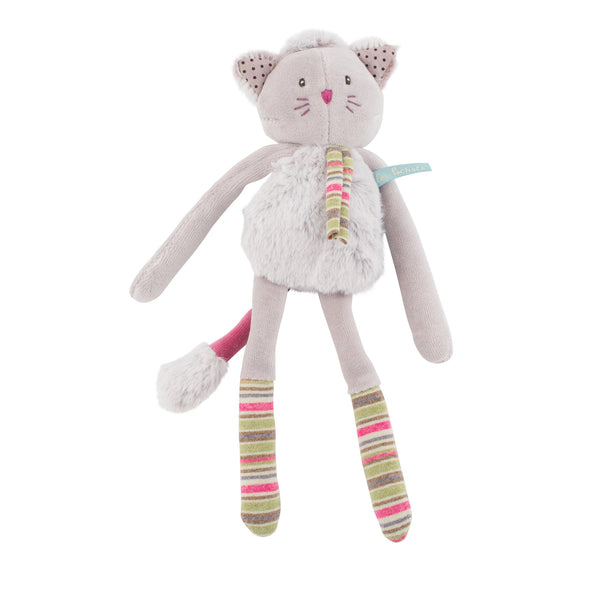 Grey Cat Rattle by Moulin Roty