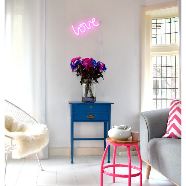 Neon Love Wall Hanging by A Little Lovely Company