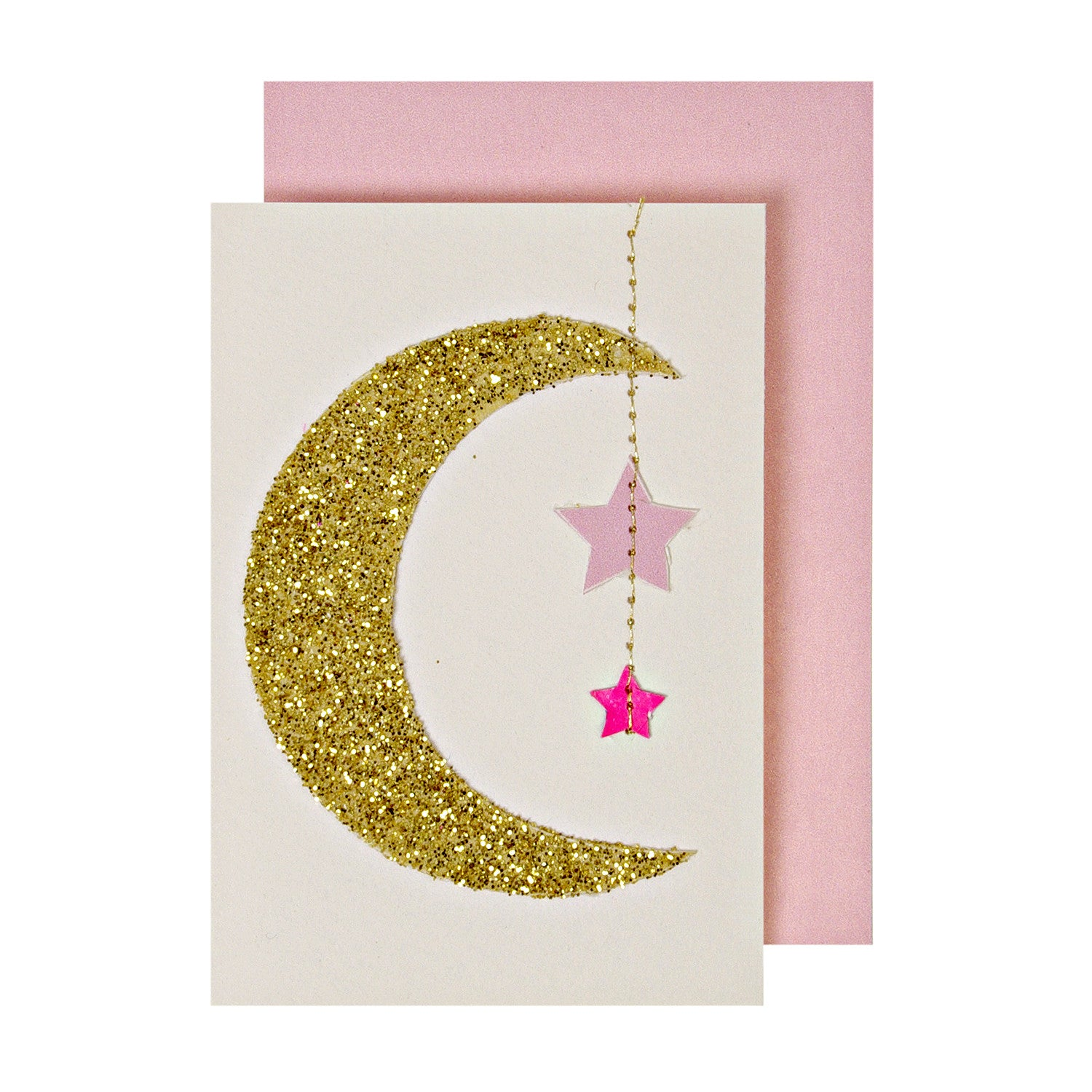 Hanging Moon Mobile - Newborn Card by Meri Meri - Little Citizens Boutique  - 1