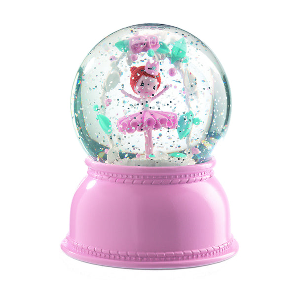 Ballerina Night Light Snow Globe - Djeco