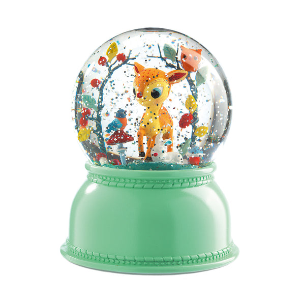 Fawn Night Light Snow Globe - Djeco