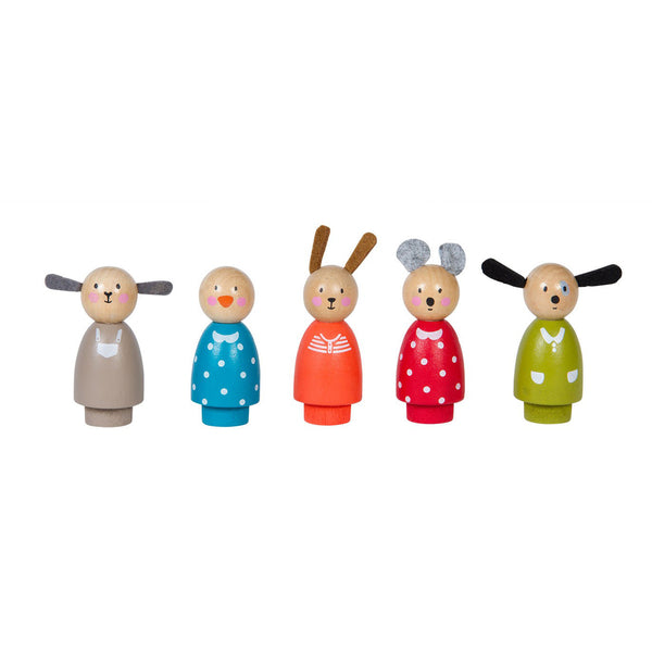 Wooden Peg Dolls by Moulin Roty