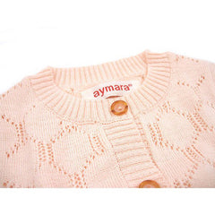 Bianca Cardigan in Petal Pink - Little Citizens Boutique  - 3