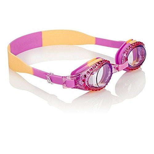 Pink Orange Rhinestone Kid's Swimming Goggles by Bling2o