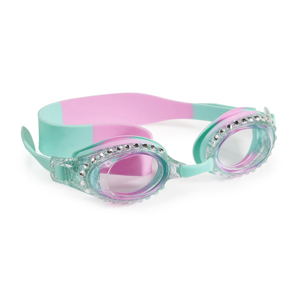 Peppermint Rhinestone Kid's Swimming Goggles by Bling2o