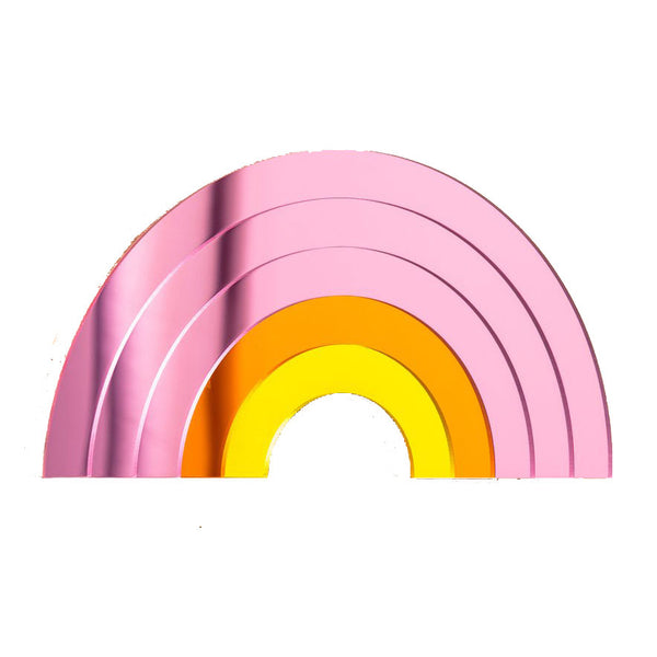Pink Rainbow Perspex Mirror & Wall Hanging by Bride and Wolfe
