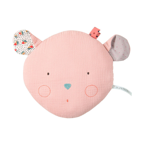 Pink Mouse Cushion by Moulin Roty