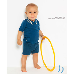 Pola Blue Knit Polo Shirt - Little Citizens Boutique