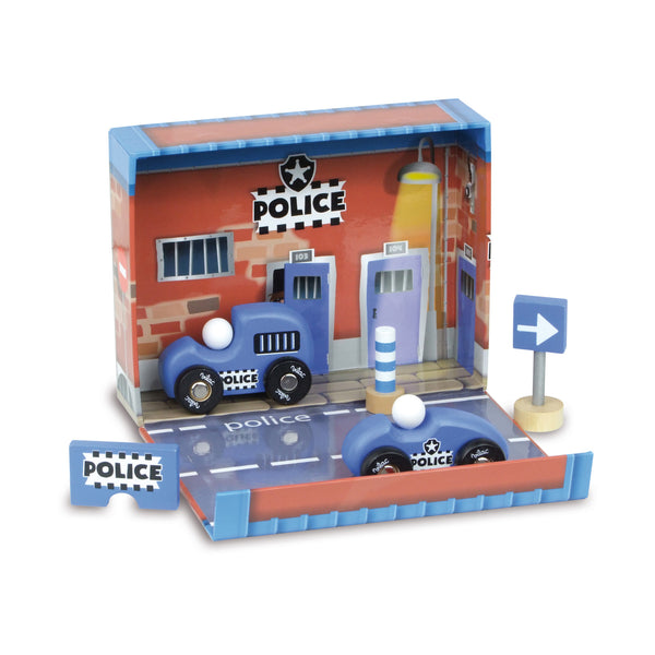 Police Station Fold Away Play Box by Vilac