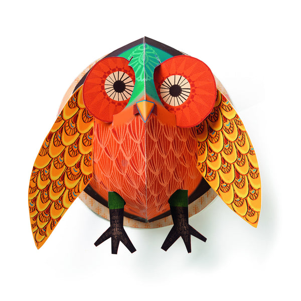 Owl Popup Poster - Paper Art by Djeco
