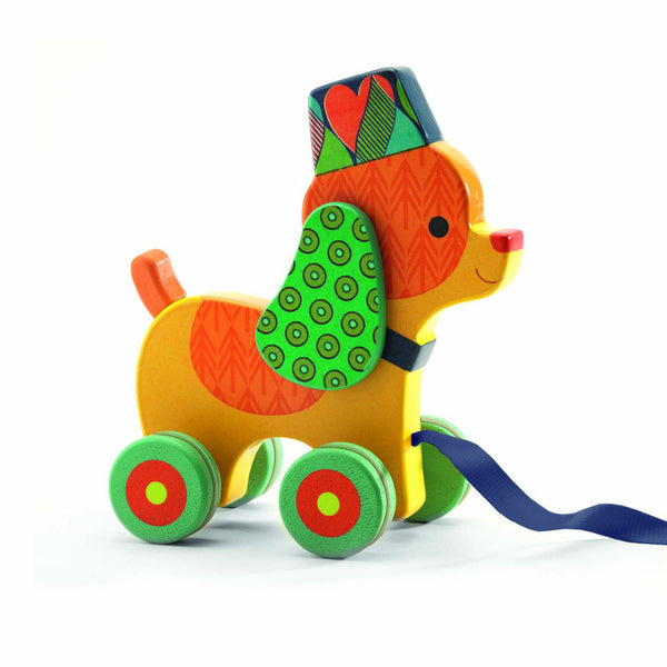 Djeco Pull Along Toy - Inou the Dog