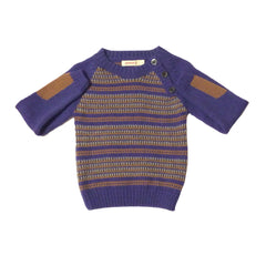 Daniel Jumper - Blue/Wood - Little Citizens Boutique  - 4