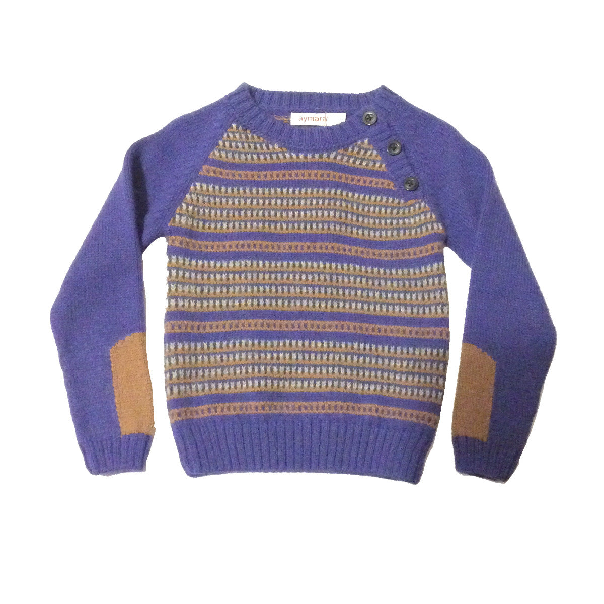 Daniel Jumper - Blue/Wood - Little Citizens Boutique  - 1